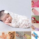Embroidery Lace Baby Photography Props Newborn Photography Wraps Handmade Lace Scarf Baby Photo Prop