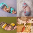 Newborn Baby Cute Crochet Knit Costume Prop Outfits Photo Photography Baby Hat Photo Props New born