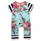 Newborn Baby Girls Boys Clothing Romper Short Sleeve Flower Cute Jumpsuit Kids Baby Girl Clothes Out