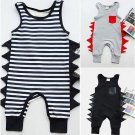 Cotton Newborn Baby Boy Sleeveless Dinosaurs Cotton Romper Jumpsuit Playsuit Outfit Clothes 0-24M