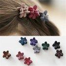 50Pcs/Set Fashion Baby Hair Claw Clip Girl Colorful Plastic Mini Cartoon Hairpin Clamp Princess Kid