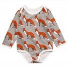 Christmas Newborn Baby Boy Girls Fox Cotton Long Sleeve Romper 2017 New Arrival Fashion Jumpsuit Out
