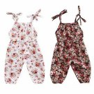 Summer Newborn Baby Kids Girl Infant Tank Sleeveless Floral Romper Jumpsuit Cotton Clothes Outfit Se