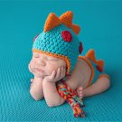 Crocheted Baby Boy Dinosaur Outfit Newborn Photography Props Handmade Knitted Photo Prop Infant Acce