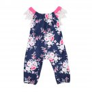 Infant Baby Girls Clothing Romper Floral Lace Backless Jumpsuit Sleeveless Flower New Sunsuit Clothe