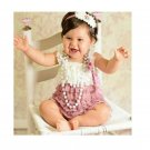 Baby Lace Rompers Newborn lucky child photography Lace Petti Romper Baby Girls Christmas Clothes Inf