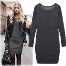 2018 Hot Fashion Autumn/Winter Velvet Round Collar Woolen Thickening Dress Beautiful  Smooth Cotton