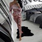 European Style Sexy Off Shoulder Velvet Jumpsuit Women Slim Bodycon Overalls Rompers Ladies Casual L