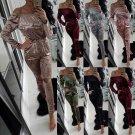 S-2XL Women Sexy Off Shoulder Jumpsuit Fashion Casual Slim Velvet Bodysuit 2016 Autumn Winter Long S