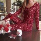 Christmas Women Long Sleeve Pajamas Set Deer Sleepwear Nightwear Tops+Pants