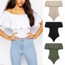 Fashion Flouncing Boat Neck Jumpsuit Elegant Undergarments for Women
