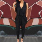 2018 Summer New Women Rompers Jumpsuits Sexy Sleeveless Long Casual Jumpsuit V Neck High Waist Overa