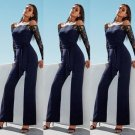 2017 Summer Lace  Womens Clubwear Off Shoulder Playsuit Bodycon Party Jumpsuit  Trousers Size s-xl