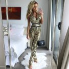 New Fashion 2017 Runway Designer Jumpsuit Women\'s Sexy Backless Halter Neck Bling Sequined Jumpsuit