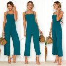 Women Knitting Sleeveless Pants Suspenders Rompers One-Piece Jumpsuits Trousers Size S-XL