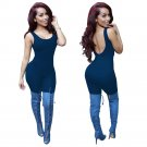 2018 New Style Spring Summer Rompers Womens Jumpsuit Sleeveless Sexy Bandage Bodycon Rompers Long Pa