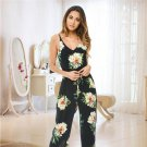 Leaves Jumpsuit Sleeveless Floral Printed Playsuit Party Trousers