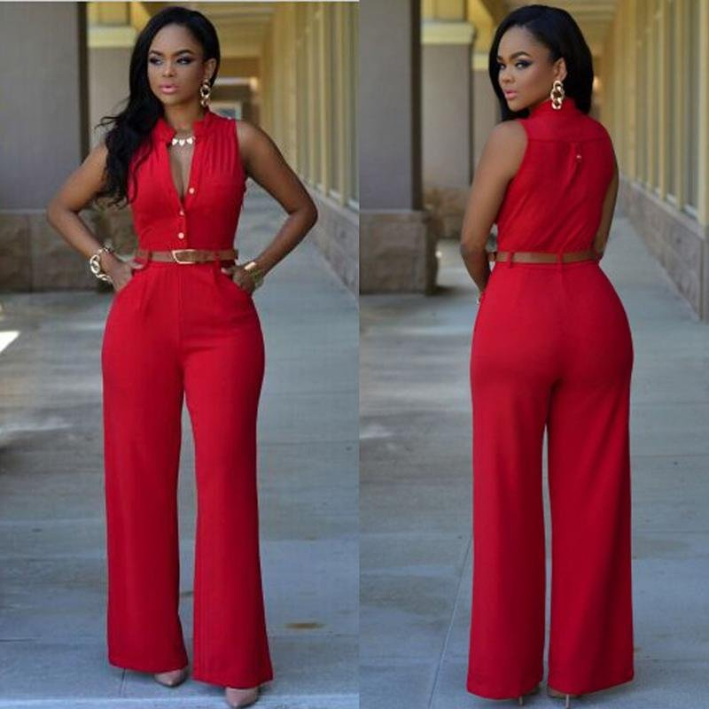 Hot spot  sexy O-neck sleeveness jumpsuit with several colors in stock