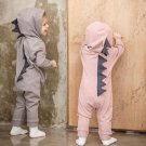 Newborn Infant Baby Boys Girls Long sleeve Dinosaur Hooded Romper Jumpsuit Outfits Clothes drop ship
