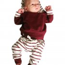 Newborn Kids Baby Boys Clothing Outfits 2pcs hooded Tops+Pants Baby Boy Clothes set Hoodies Tracksui