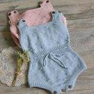 Baby Girls romper sleeveless Newborn Baby Girls Knitted Halter Toddler Strap Jumpsuit Clothes baby R