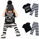 Newborn Baby boys Girls clothes set Toddler Baby Infant Boys Girls Outfit T-shirt Tops+Pants Clothes