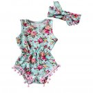 Newborn Toddler Baby Girls Floral Romper Jumpsuit Sunsuit Clothes Set Girls flower print baby GIRLR