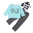 Baby clothes 2017 autumn Children clothing sets newborn cotton Animal Striped printed long sleeved t