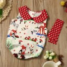 Newborn Baby girls romper summer 2017 Infant Baby Girl Woodlands Romper Playsuit Headband Outfits Cl