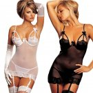 New Arrive fishnet Women Sexy Lingerie Hot Crochet Mesh Hollow Out Baby Doll See-through Mini Chemis
