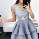 2018 Elegant Women Black Embroidery Floral Patchwork Dresses Sexy Sleeveless Lace Ball Layered Gown