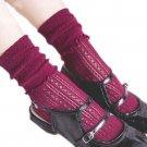 Fashion Women Casual Ultra Thin Hollow Elasticity Kawaii Flowers Side Heap Cute Candy Knee-high Stoc