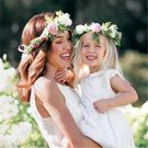 2pcs/set Mom And Daughter Matching Headbands Artificial Flowers Girls Rim On The Head Boho Hair Acce