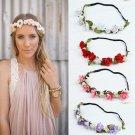 Fashion Ladies Bridemaid Flower Wreath Artificial Flower Head Wreath Floral Bridal Hair Accessory We