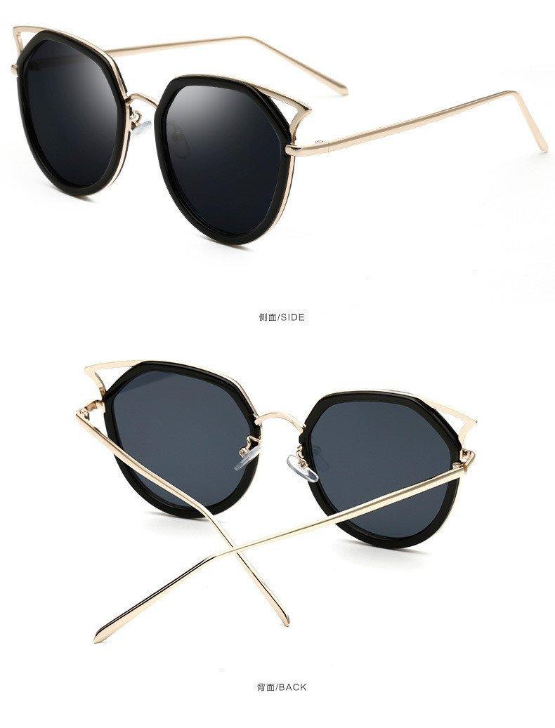 Cat eye Sunglasses Women Fashion Brand Designer Mirror Vintage Oversize Cateye Sun Glasses