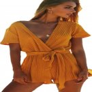 Summer Women Fashion Sexy V-neck Bandage Playsuit Jumpsuit Casual Beach Jumpsuits Rompers