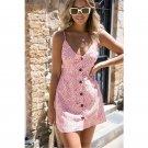spaghetti strap Mini dress sweet casual party dress vestido
