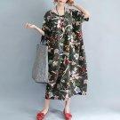 Neck Casual Maxi Long Dress Loose Female Robe Party Vestidos S-5XL