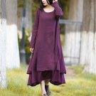 Dress Cotton Linen Boho Long Maxi Large Vestidos