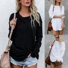 Plus Size Women\'s Long Sleeve Chic Blouse Fashion Blouse Top T-shirt