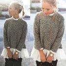 Womens Long Sleeve Loose Cardigan Knitted Sweater Jumper Knitwear Outwear Coat