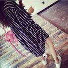 Top Fashion 2018 Womens OL 3/4 Sleeve Shirt Striped Long Blouses Loose Tops Blusas Femininas Korean