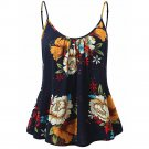 Sexy Women\'s Sleeveless Summer Floral Print Spaghetti Strappy Tank Tops