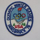 1976 Innsbruck U.S.A. Olympics Cloth Patch