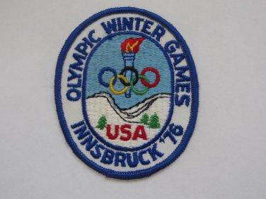 1976 Innsbruck U.S.A. Olympics Cloth Patch