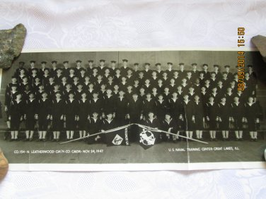 U.S. Naval Training Center, Great Lakes Illinois - Vintage Group Photograph 1947