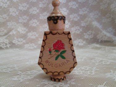Bulgarian Rose Perfume with Wooden Souvenir Case