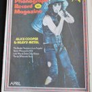 Phonograph Record Magazine, April 1973-Alice Cooper & Heavy Metal (Vintage)