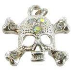 Skull With Crystals Charm