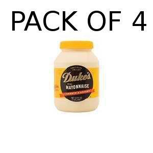 (Pack of 4) Duke's Mayonnaise, 32-Ounce Jars